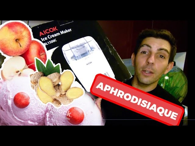 Recette SORBET APHRODISIAQUE pomme/gingembre avec la sorbetère AICOK