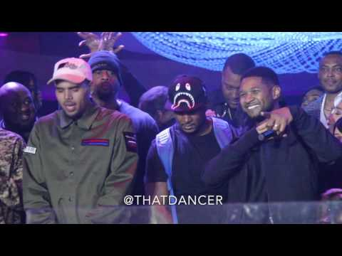Chris Brown brings out Usher in Miami...