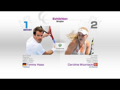 virtua-tennis-4-sega-tommy-haas-vs-caroline-wozniacki-rafael-nadal-roger-federer-andy-murray