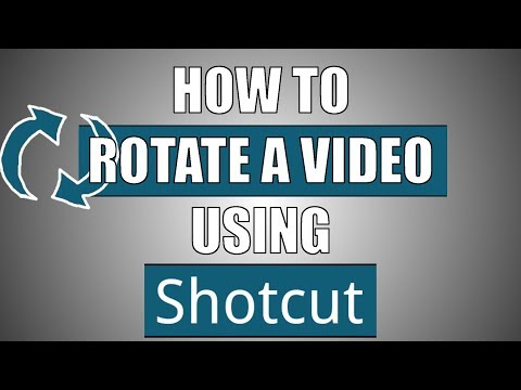 How to Rotate videos using Shotcut | Best Free Video Editor | #4