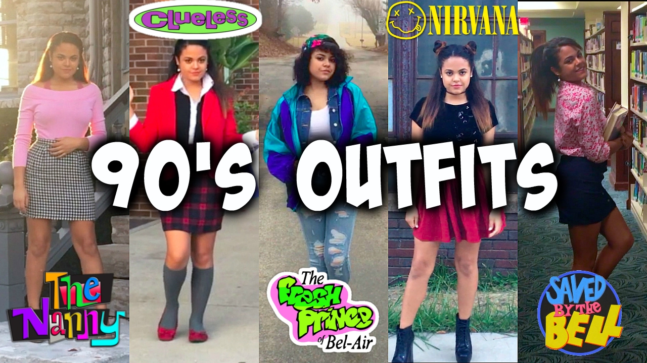 90s OUTFITS | TV show inspired! Clueless, Fresh Prince, Saved by