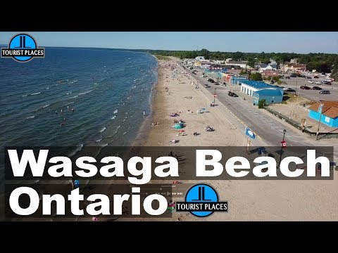 Wasaga Beach, Ontario, Canada   Drone Aerial View   Tourist Places Attractions