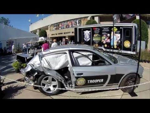 North Carolina State Fair 2017 -  NC State Trooper Wrecked Car & Past Patrol Cars - Oct 18, 2017