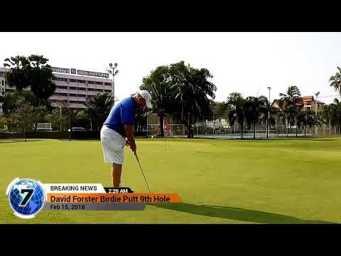 9th Hole Birdie Putt Asia Pattaya Golf Course Thailand