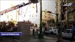 بالفيديو... تطوير ميدان طلعت حرب ودهان الأرصفة