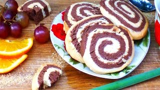 Pinwheels Spiral Swirl Cookie Recipe (chocolate And Vanilla)