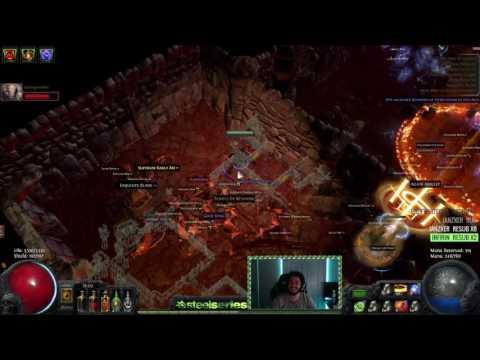 Path of Exile Prophecy HC - Atziri Vs Self Found Challenge Characters /w bob - The no Damage raider