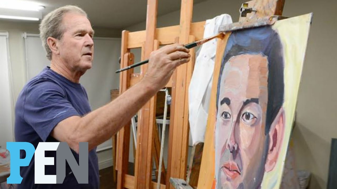George W Bush Seeks To Honor Wounded Warriors With His Paintings