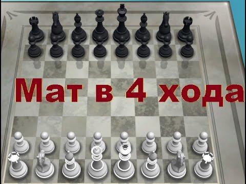 Как поставить детский мат(за 4 хода)в шахматах! 1080p HD