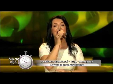 Snezana Savkovic - Livada je moja uspomena - (live) - Nikad nije kasno - EM 06 - 06.11.2016