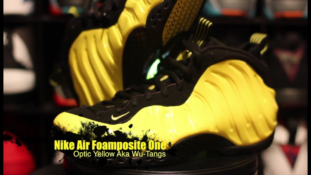 df009f06114 Nike Air Foamposite One Optic Yellow Aka Wu Tang Complete Unboxing Review +  On Foot!!!