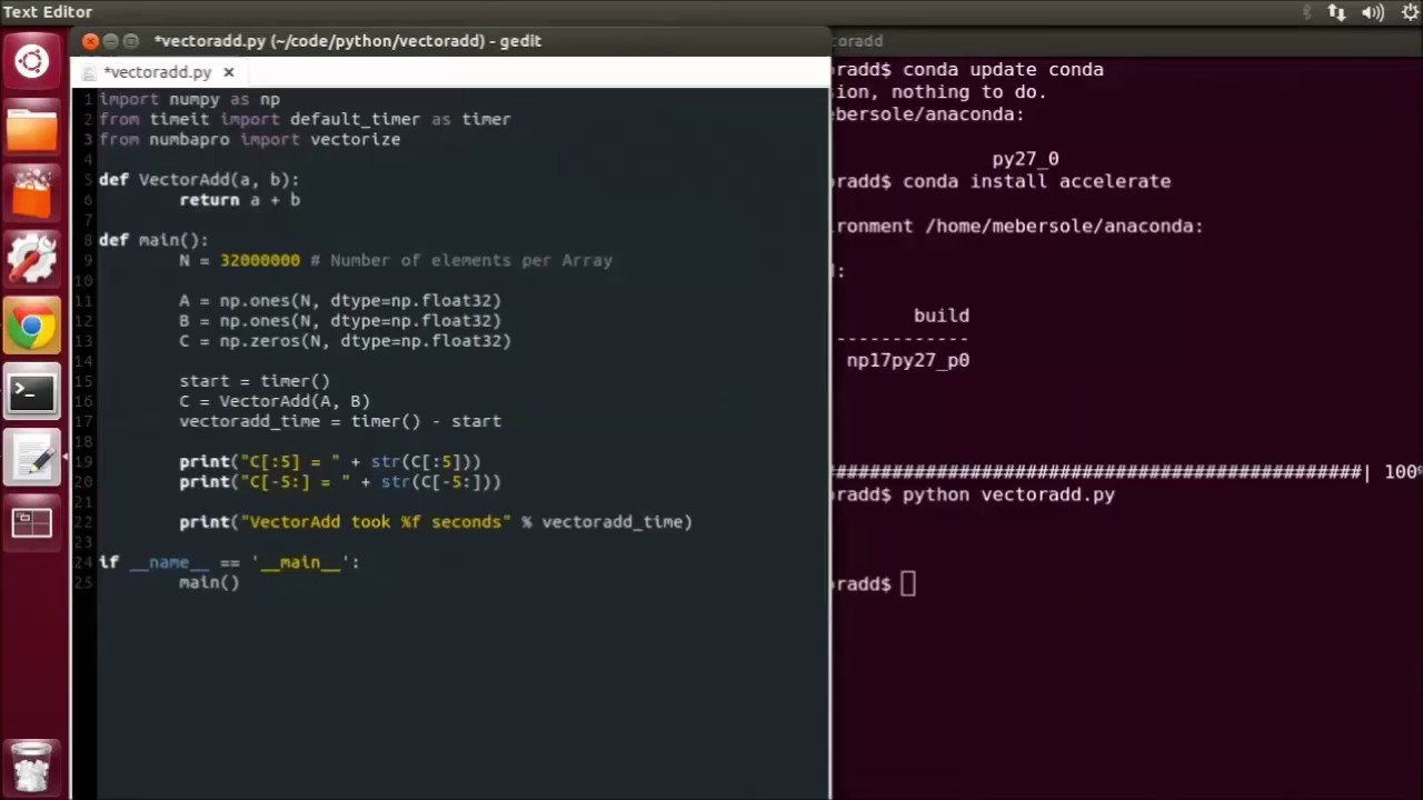 CUDACast #10a - Your First CUDA Python Program