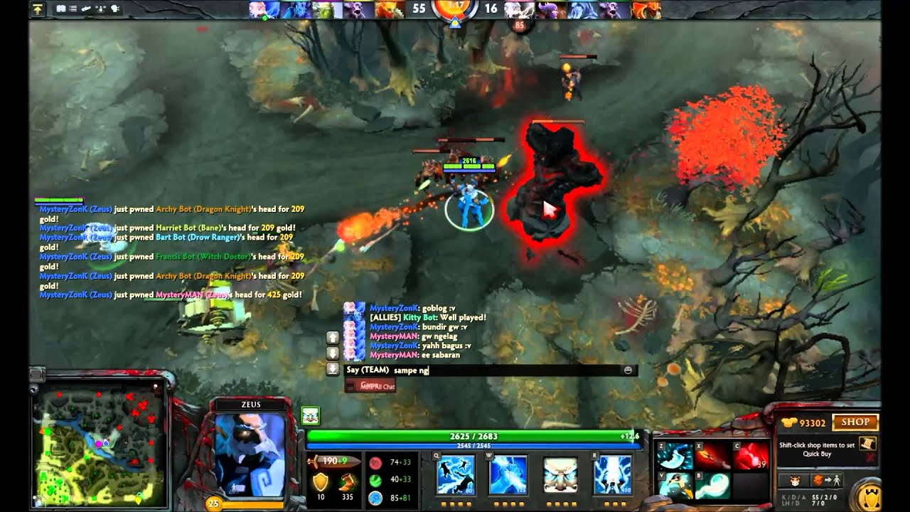 dota 2 cheats perang zeus youtube