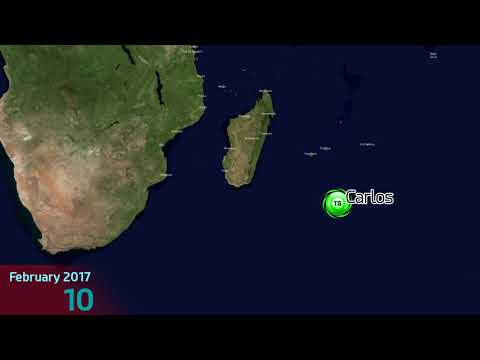 2016-17 SW Indian Ocean Cyclone Season Animation