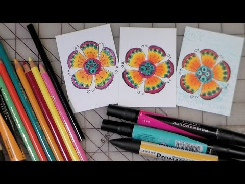 Colored Pencils For Grown Up Coloring Coloring with markers and colored pencils together YouTube