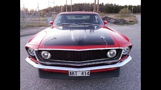 Ford Mustang 1969 first drive with GoPro