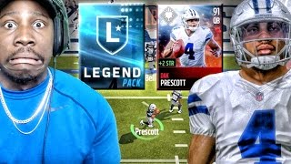 91 DAK PRESCOTT & LEGEND PACK OPENING! Madden Mobile 17 Gameplay Ep. 9