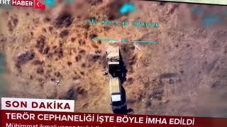 """طائرات تركية تدمرشاحنة أسلحة لـ"""" ب ي د"""" شمال شرق سوريا في إطار عملية """"نبع السلام"""""""