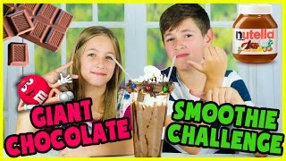 GIANT EXTREME CHOCOLATE SMOOTHIE CHALLENGE!