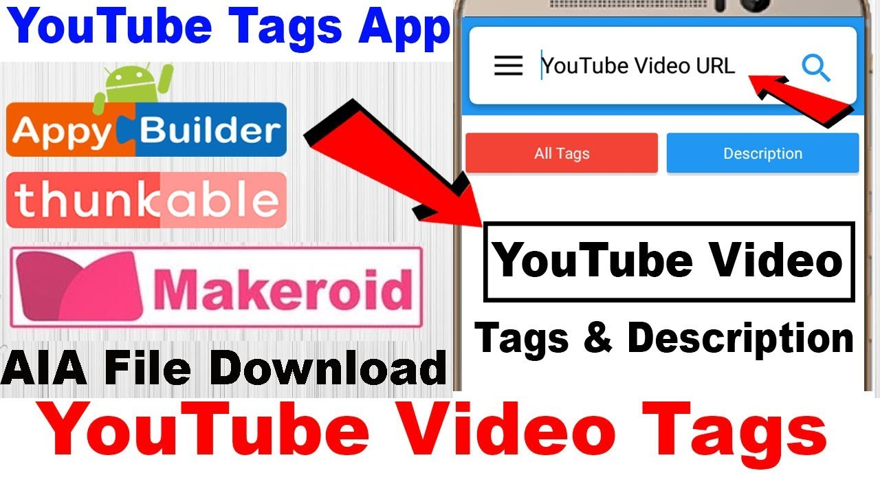 YouTube Videos Tags With Description Show in App | AIA File