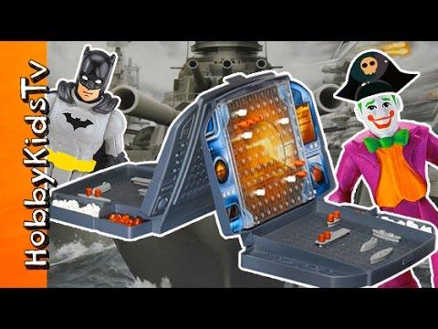 Battleship Board Game with Imaginext Toys by HobbyKidsTV