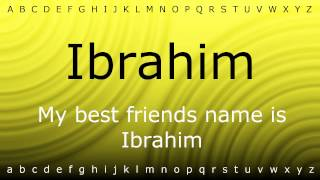 Here I will show you how to say 'Ibrahim' with Zira.mp4 2017 Video