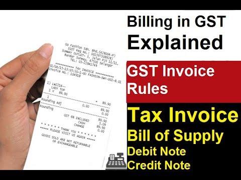 GST Invoice Rules and Format | GST Tax Invoice | GST में Invoice के बारे में जाने जरुरी बाते |