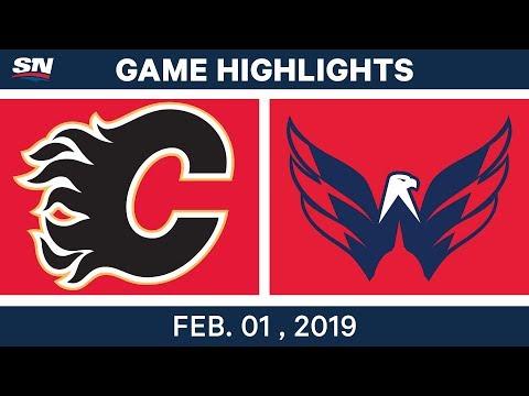 NHL Highlights | Flames vs. Capitals - Feb. 1, 2019