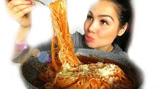Sweet Filipino Spaghetti 먹방 Mukbang | Eating Show | Story Time 18+