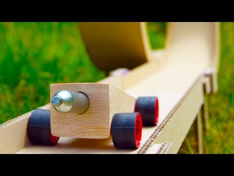 DIY Hot Wheels Powered by CO2 Cartridge