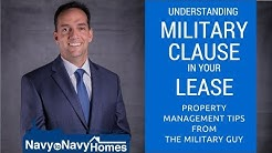 Understanding the Military Clause in your Lease