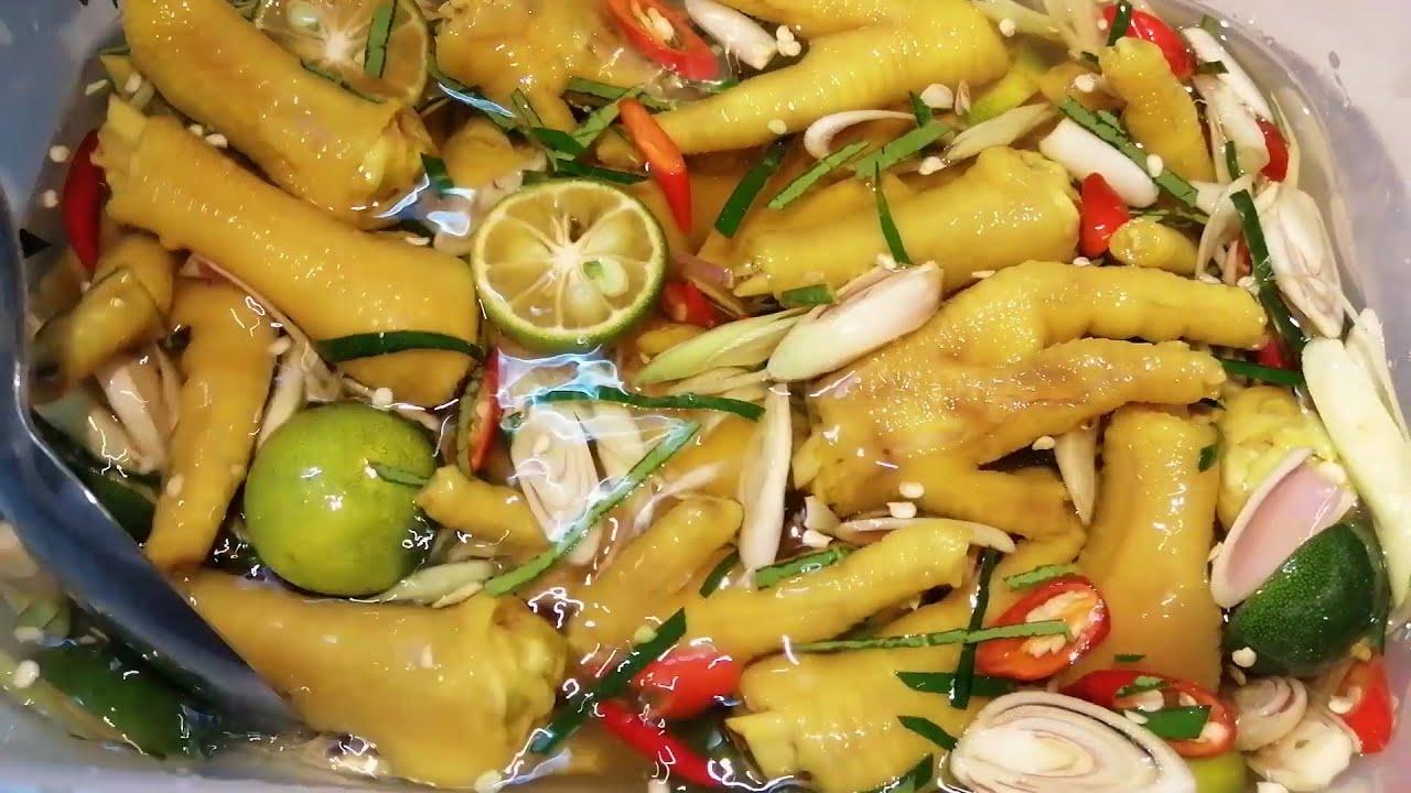 Cách làm chân GÀ NGÂM SẢ TẮC/ Siêu ngon giòn_ (Chicken feet pickled with lemongrass and kumquat)
