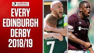 Hibernian v Hearts | This Season's Edinburgh Derby Highlights | Ladbrokes Premiership