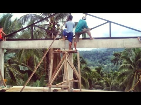 Building a house in Southern Leyte Philippines part 17. The roof frame.