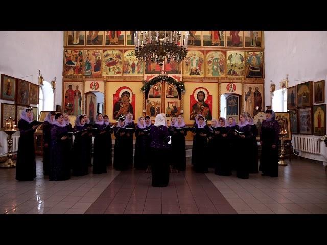Грузинский Богородичный гимн Шен хар венахи