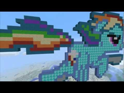 Minecraft MlP Pixelart [Rainbow Dash]