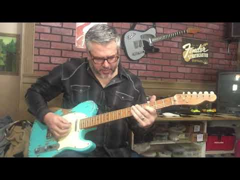 Relic Tele Style Sonic Blue Electric Guitar With Fender Neck And Pickups By Nate's Relic Guitars