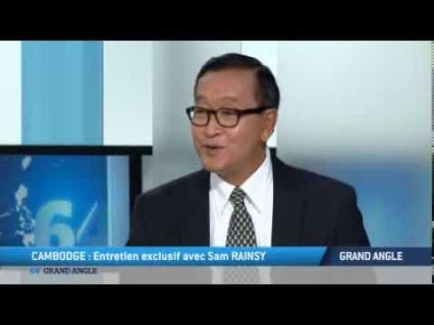 TV5MONDE : Entretien exclusif avec Sam Rainsy de l'opposition cambodgienne