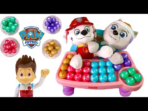 Thumbnail: Paw Patrol Everest Marshall Eat Colorful Rainbow Gumballs - Best Learning Colors Video