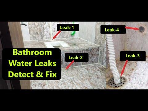 Bathroom Water Leakage, Find & Fix Bathroom/Toilet water leaks problem -Seepage-Troubleshoot & Solve