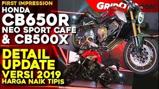 Honda CB650R Neo Sport Cafe dan CB500X 2019 l First Impression Review l GridOto