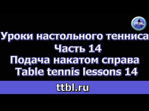 Техника настольного тенниса. Основные элементы. - Мир