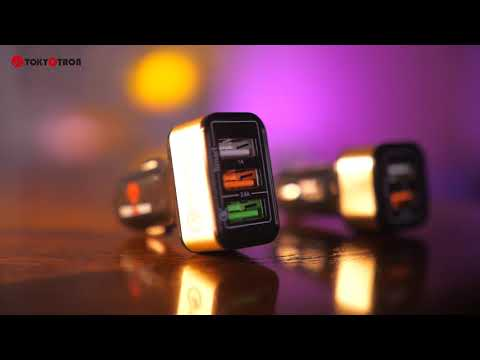 Tokyotron Japan 3 PORT smart mobile car charger Qualcomm 3.0- ultimate fastest charging - unboxing