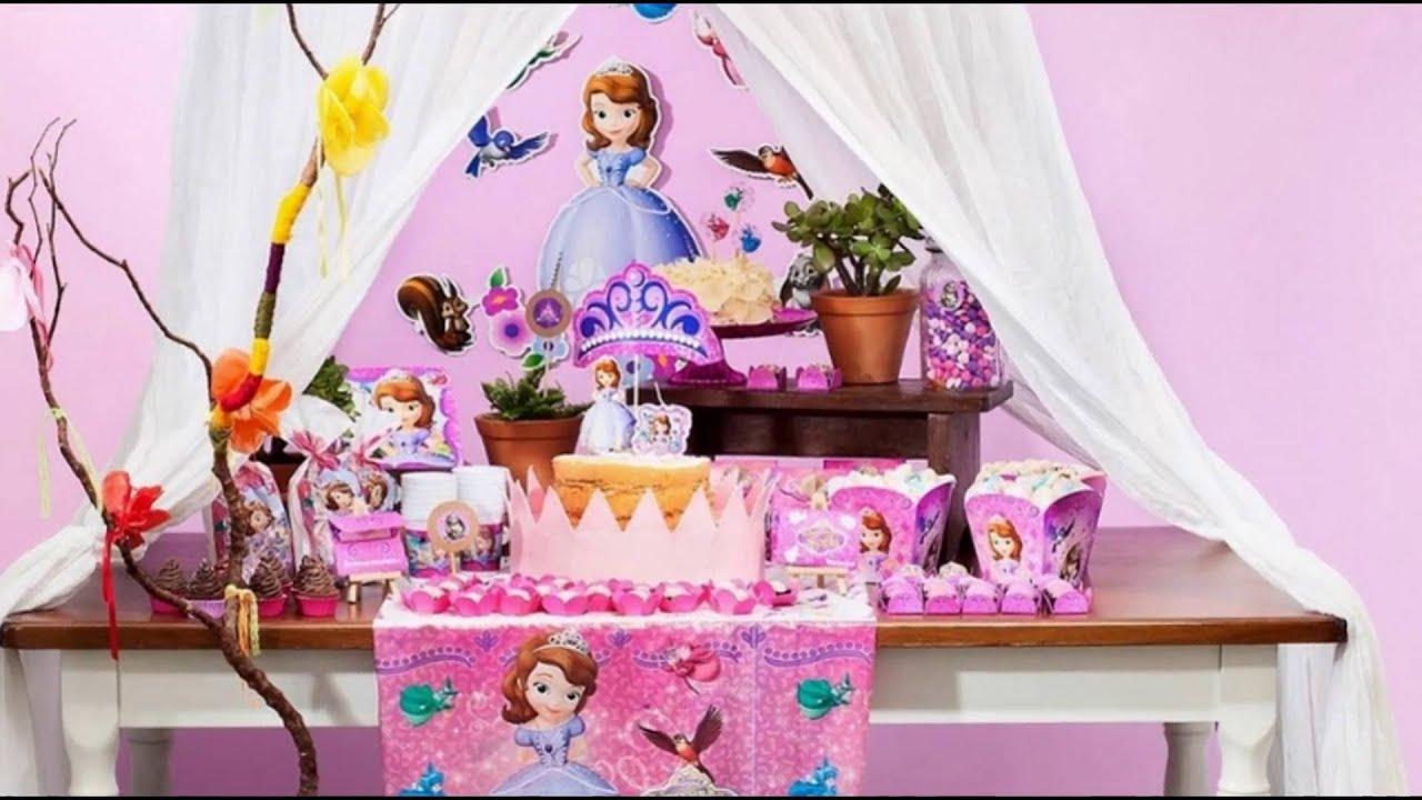 Ideia Decoraç u00e3o Aniversário Festa Princesa Sofia YouTube -> Decoração De Aniversário Princesa Sofia
