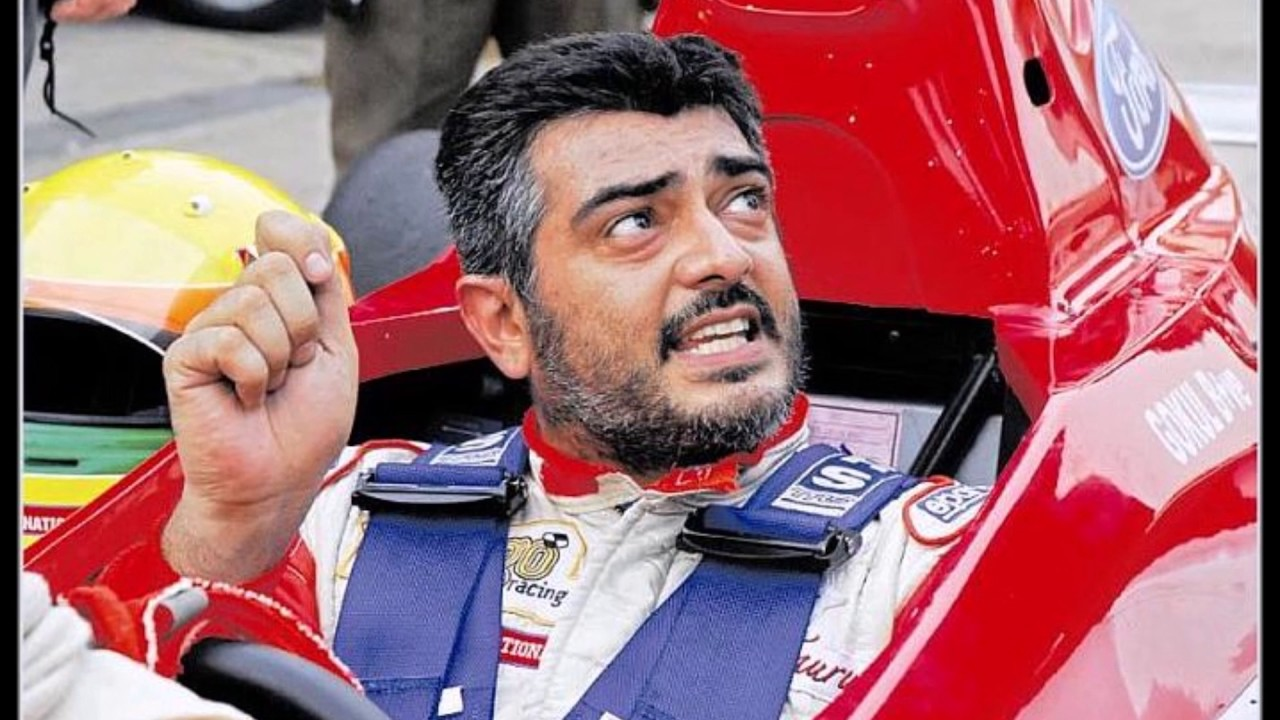 Thala Ajith first in racing car competition in real life he is an expert -  YouTube