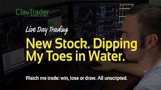 Live Day Trading – New Stock. Dipping My Toes in Water.