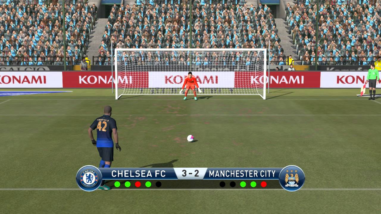 Chelsea Vs Manchester City Fc: Chelsea Fc Vs Manchester City Fc Penalty Shootout In Pes