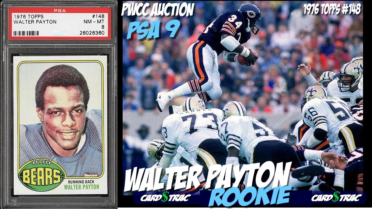 1976 Walter Payton Rookie Card For Sale Graded Psa 9