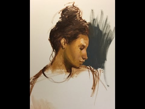 Portrait Painting Basics: Drawing with Oil Paint