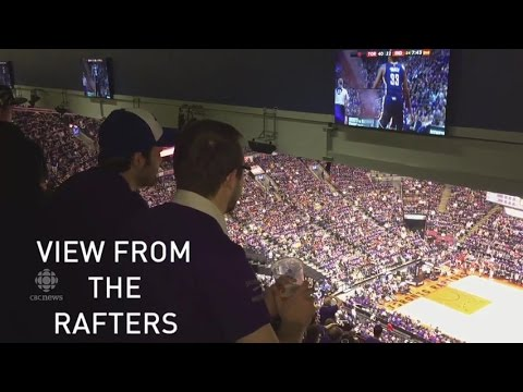 Raptors' Fans Don't Mind Standing In The Rafters For Playoffs